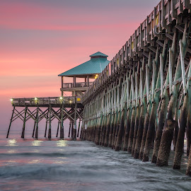 Folly Island Pier by David Long - Buildings & Architecture Bridges & Suspended Structures ( charleston, folly island, pier )