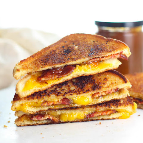 Grilled Cheese with Fig Jam and Bacon