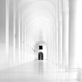 Church by Britta Rogge - Digital Art Places ( blackandwhite, church, black and white, digital art, places of interest, place, photography, street photography )