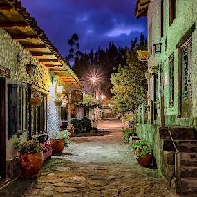 Into a Brothers Grimm's Tale by Andrius La Rotta Esquivel - City,  Street & Park  Street Scenes ( amazing, neighborhoods, night photography, tale, magical, twilight, night shot, street scenes, photography, street photography )