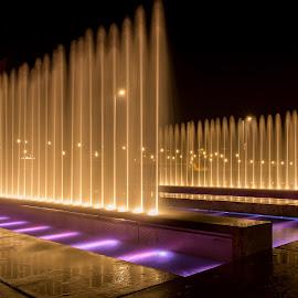 by Mario Horvat - City,  Street & Park  Fountains ( lights, fountain, croatia, night, zagreb )