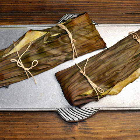 Fish Wrapped in Banana Leaves
