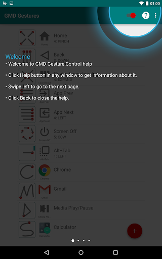GMD GestureControl root - screenshot