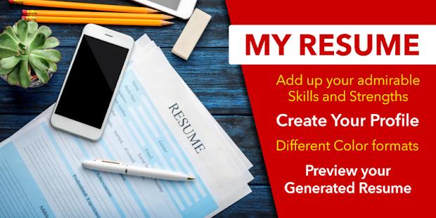 Resume Builder App Free CV Maker with PDF Format for pc