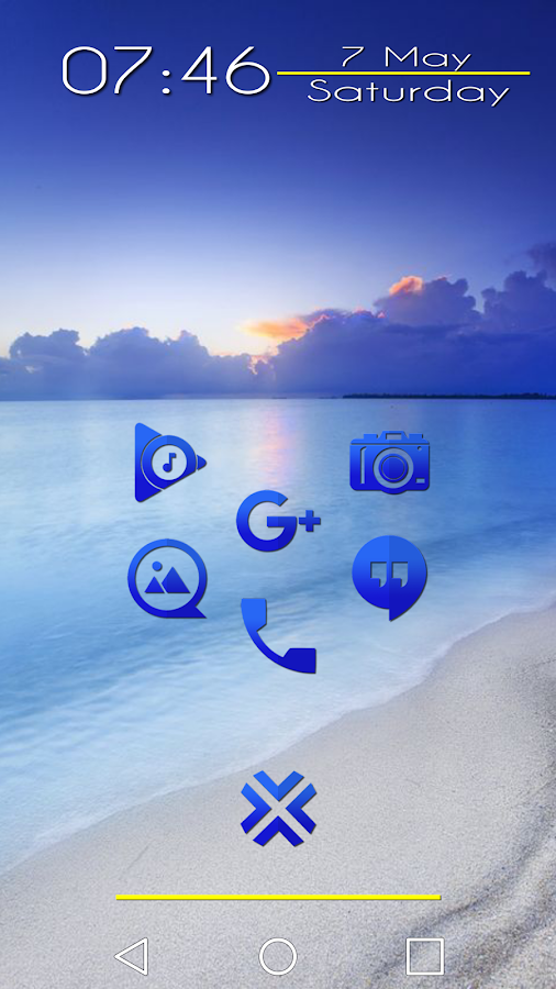 Tap Blue - Icon Pack Screenshot
