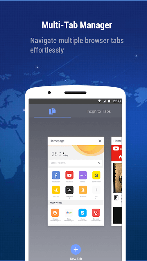 Minifier Browser - schnell, klein, Wetter & News android apps download