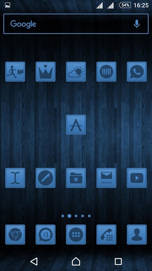 Wooden Icons Blue Screenshot 2