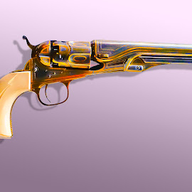 ENGRAVED 1862 COLT POLICE REVOLVER by Gerry Slabaugh - Artistic Objects Other Objects ( engraved 1862 colt police revolver, colt, engraved, 1862, revolver )