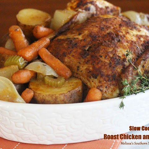 Slow Cooker Roast Chicken And Vegetables
