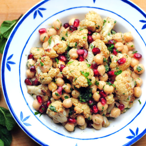 Cauliflower, Chickpea and Pomegranate Salad