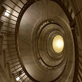 Spiral Staircase by Ada Irizarry-Montalvo - Buildings & Architecture Architectural Detail