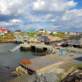 Peggy:s Cove, Nova Scotia Canada by Donna Chapman-Domitrek - Landscapes Travel ( canada, friendly, fishing village, atlantic, historic )