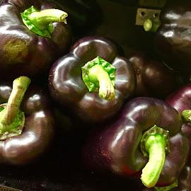 Purple Peppers by Lope Piamonte Jr - Food & Drink Fruits & Vegetables