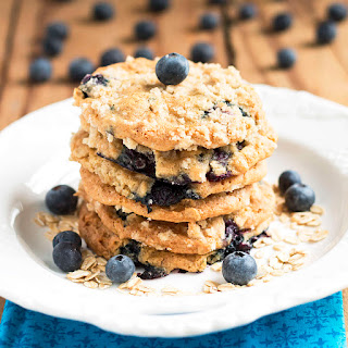 Blueberry Oatmeal Streusel Cookies