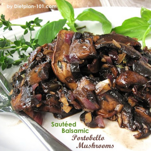Sautéed Balsamic Portobello Mushrooms (for South Beach Phase 1)