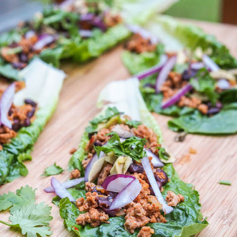 Mexican Turkey Taco Lettuce Wraps {Gluten-Free, Dairy-Free}