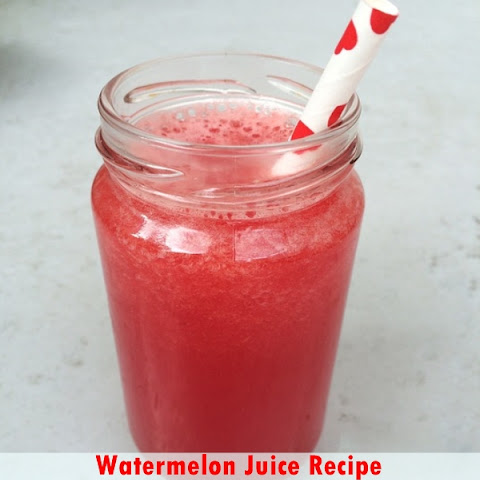 Watermelon Juice Recipe and 12 Health Benefits