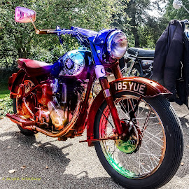 Multi-coloured Bike  by Roger Beverley - Transportation Motorcycles ( motor cycle, classic bike )