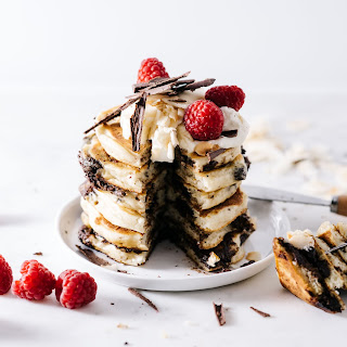 Superfood Chocolate Coconut Pancakes
