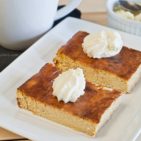 Crustless Pumpkin Cheesecake Bars (gluten and grain free)