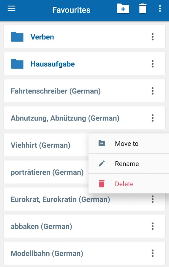 Oxford German Dictionary Screenshot 5