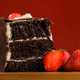 Blackforest Cake by Dedy Eka Saputra - Food & Drink Cooking & Baking ( cake, red, bakery, dark, blackforest )