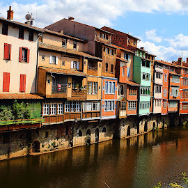 Castres - Les rives de l'Agout by Gérard CHATENET - City,  Street & Park  Street Scenes