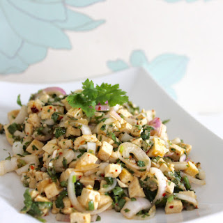 Larb Taohoo (thai spicy tofu salad)