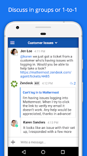Mattermost Business app for Android Preview 1