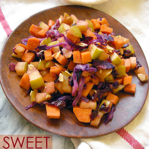 Cranberry Apple Sweet Potato Hash