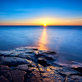 Serine by Mike Woodard - Landscapes Waterscapes ( stoney point, lake superior, sunrise )