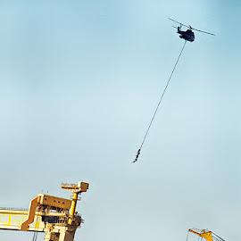 Carrying people by Radu Eftimie - Transportation Helicopters ( helicopter, rope, people   transportation )