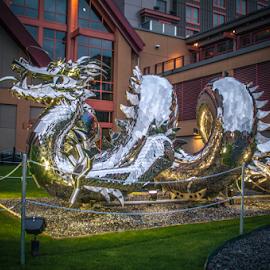 by Myra Brizendine Wilson - City,  Street & Park  City Parks ( rock river casino resort, alaska, silver dragon, dragon, casino, bc, vancouver )