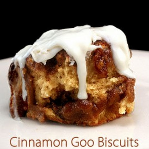 Cinnamon Goo Biscuits with Cream Cheese Frosting Glaze