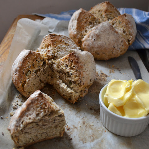 Five seeds sourdough Irish soda bread