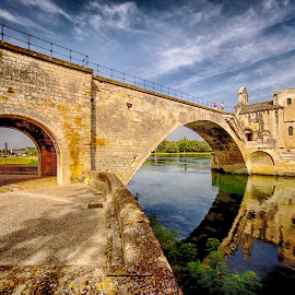 Saint Benezet ,Avignon by Stanley P. - Buildings & Architecture Bridges & Suspended Structures