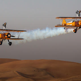 Desert Handsfree by Jaideep Abraham - Sports & Fitness Other Sports ( al ain, uae, breitling, wingwalkers, abu dhabi, aerobatics, competition )