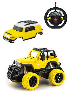 """Игрушка-радиуправляемая машинка серии """"Город Игр"""", внедорожник 2 в 1, желтый"""
