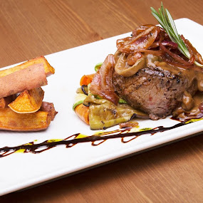 Beef Steak by Avi Chatterjee - Food & Drink Eating
