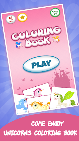 android Unicorn coloring book for kids Screenshot 0
