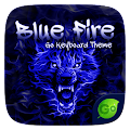 Blue Fire GO Keyboard Theme