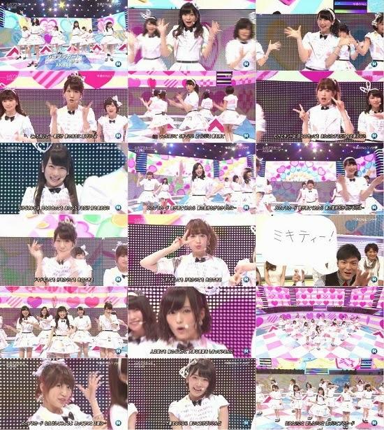 (TV-Music)(1080i) AKB48 – 心のプラカード (Music Station) 140829