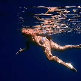 Underwater photography by Mirjana  Bocina - Sports & Fitness Other Sports ( water, reflection, blue, croatia, underwater photography, sea, sea  reflection )