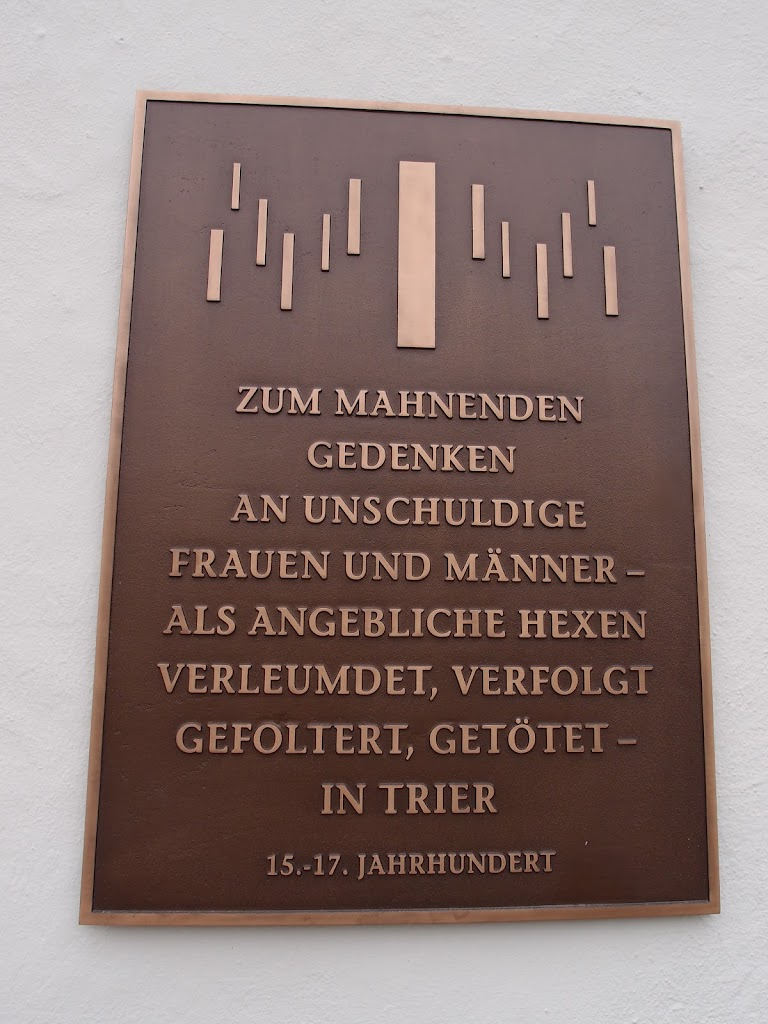 In poignant remembrance of innocent women and men - as alleged witches defamed, persecuted, tortured, and killed - in Trier15th - 17th centurySubmitted by: @schwanmitbrille