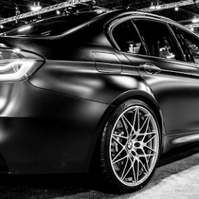 Matte Black BMW by Sean Marquantte - Transportation Automobiles ( auto show, automobile, denver, bmw, m3, black )