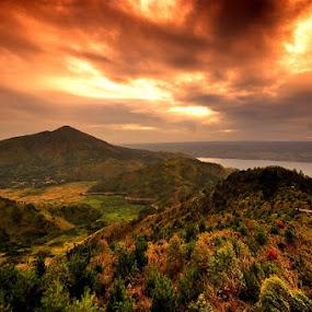 Burning Tele by Taufiqurrahman Setiawan - Landscapes Mountains & Hills