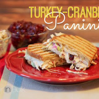 Turkey-Cranberry Panini {Thanksgiving Leftovers Recipe}