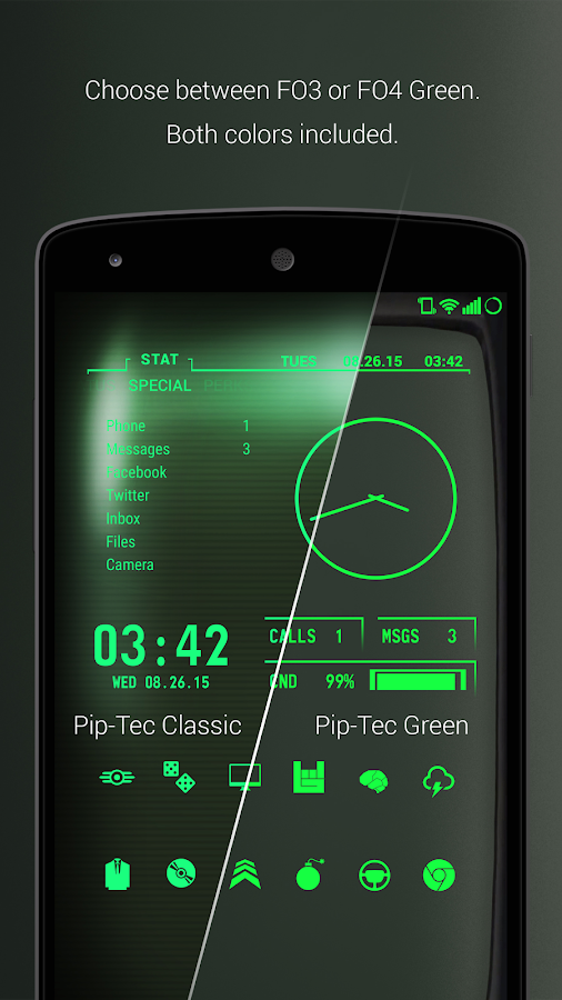 PipTec Green Icons & Live Wall Screenshot 1