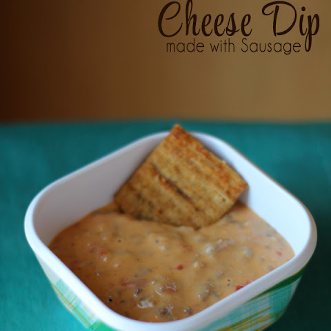 Cheese Dip with Sausage and Brown Rice Triscuit Crackers #BrownRiceTriscuit