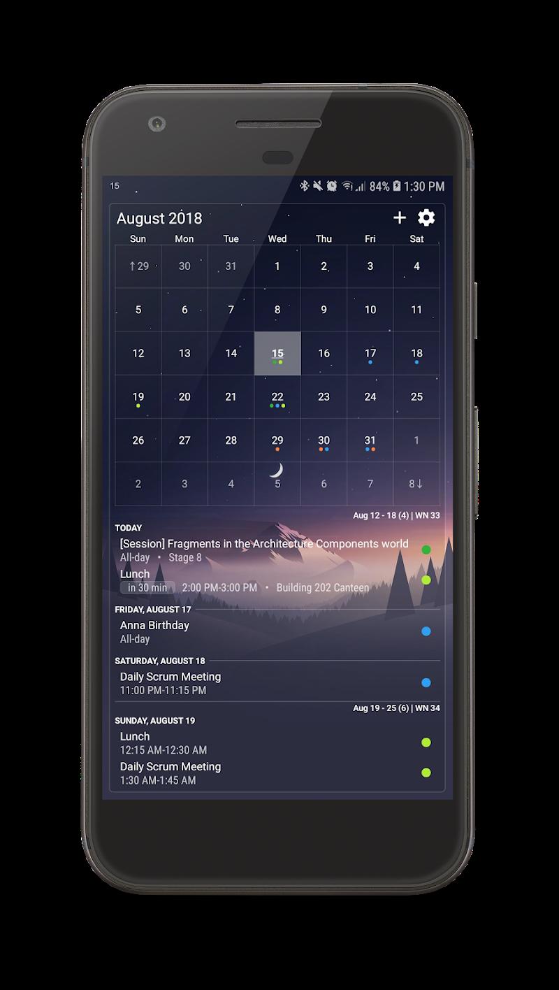 Your Calendar Widget Screenshot 2